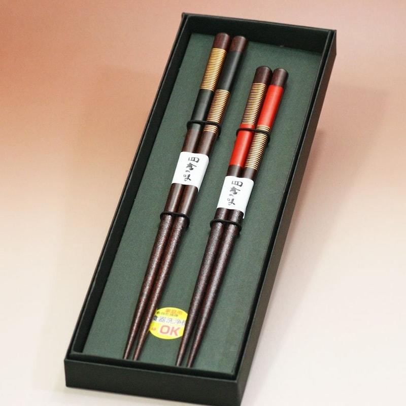 若狭塗箸,歌舞伎黒箱2膳入り