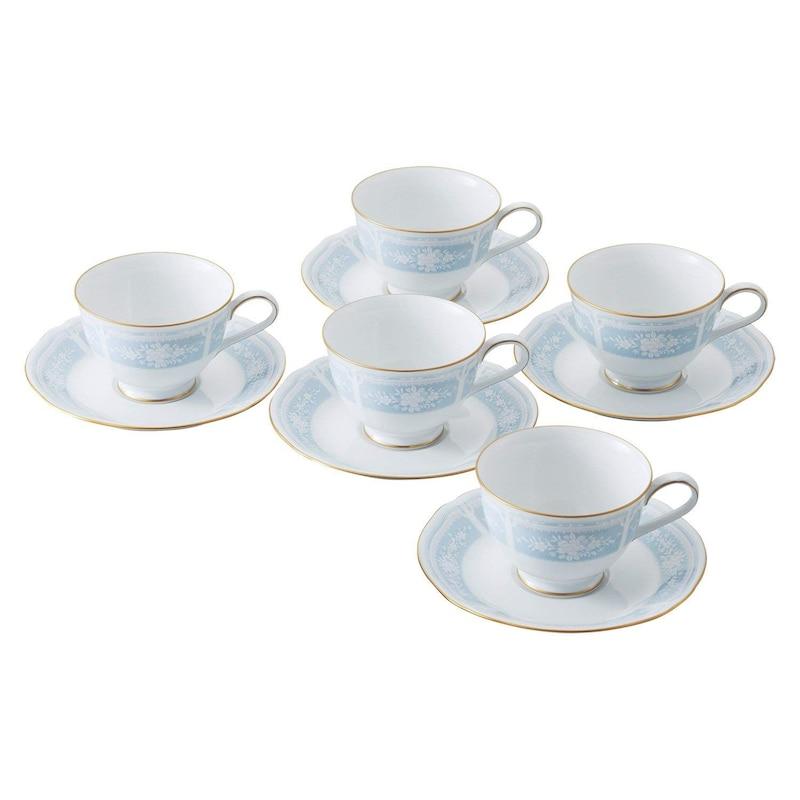 ノリタケ,ティー・コーヒー碗皿 5客セット,H9587A/1507