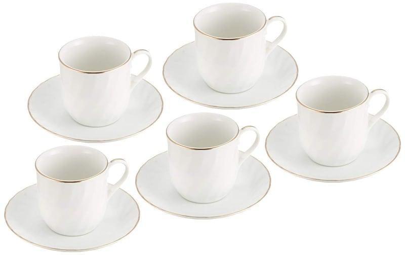 エールネット,ゴールドライン 5客 コーヒーセット