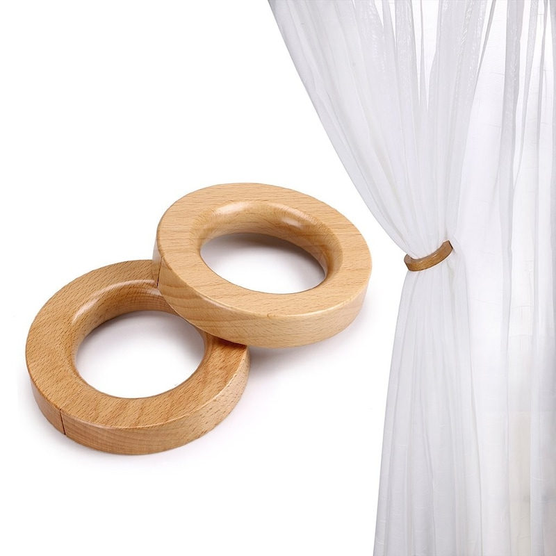 Sumnacon,リング式 木製 カーテンタッセル