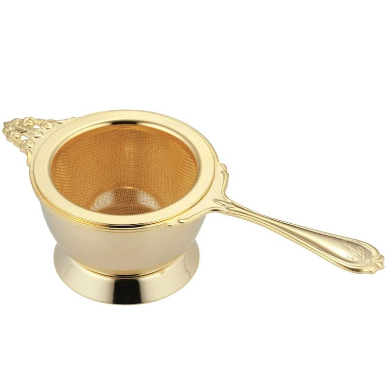 高桑金属,ヌーブル ティーストレーナー ゴールド,400829