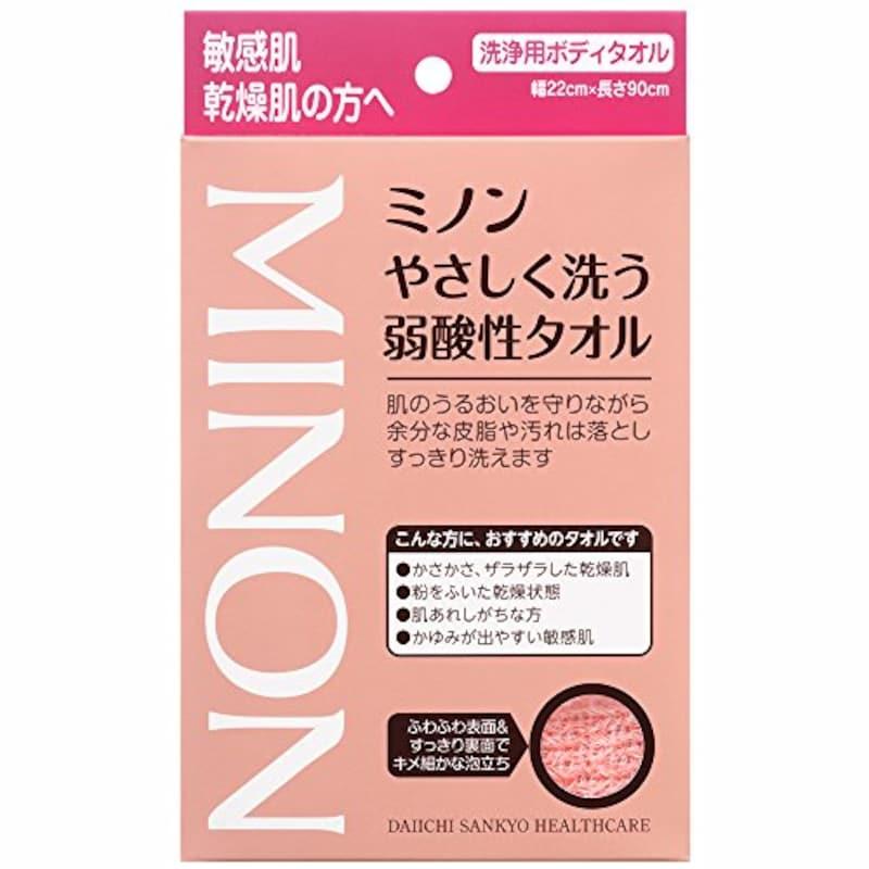 ミノン,やさしく洗う弱酸性タオル