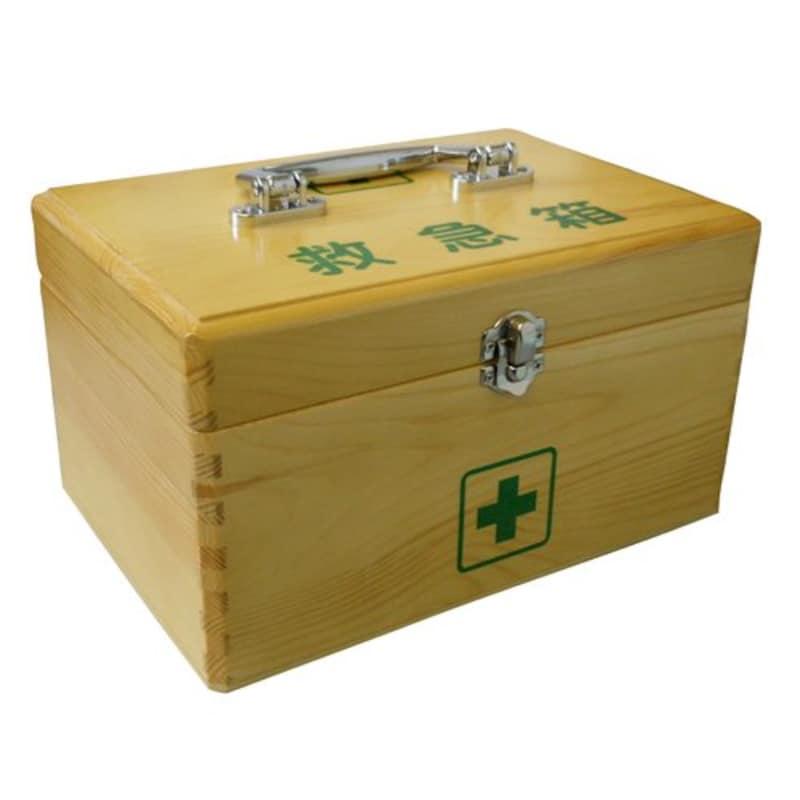 日進医療器,リーダー木製救急箱 Lサイズ