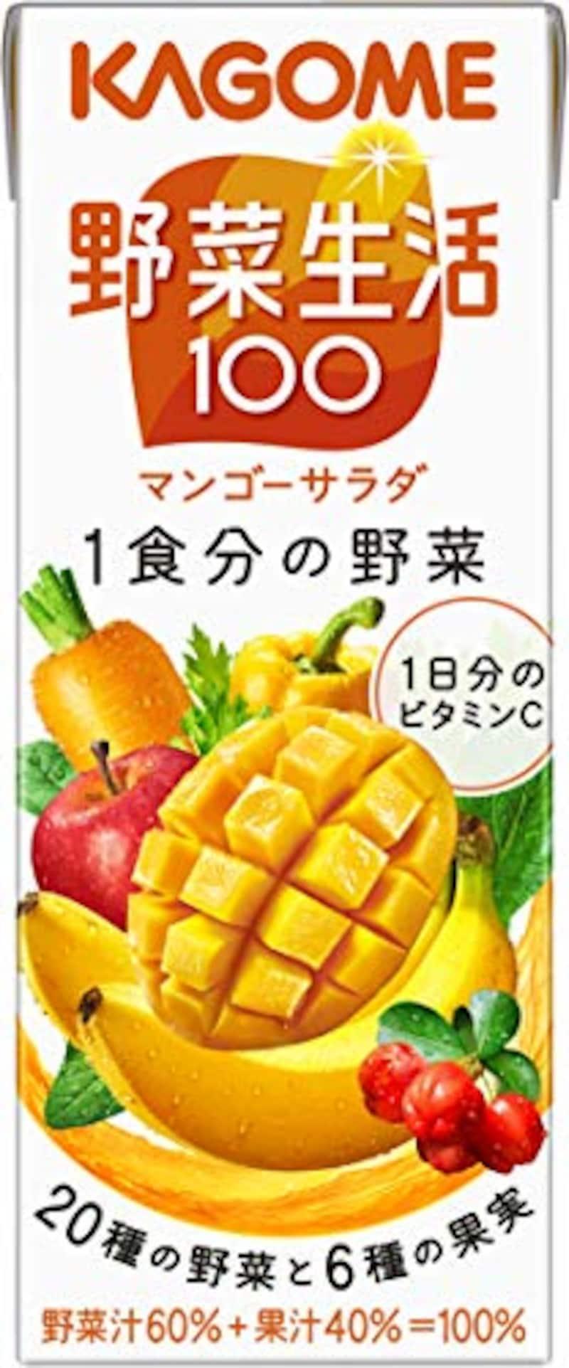 カゴメ,野菜生活100 マンゴーサラダ 200ml×24本