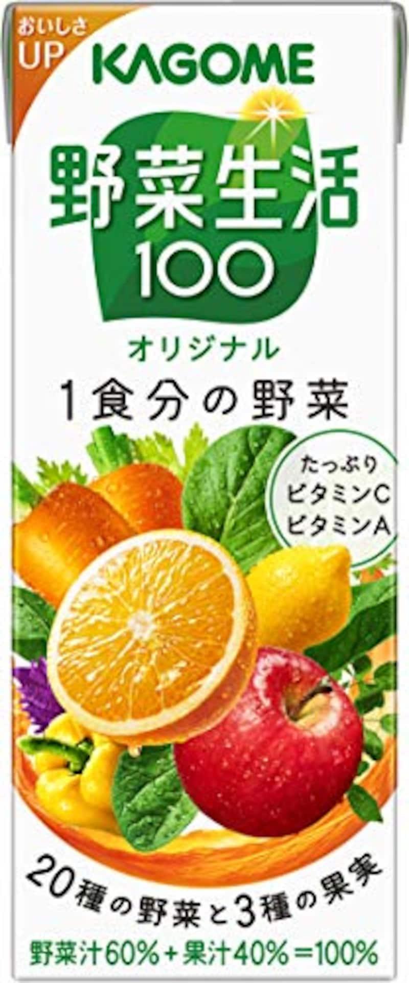 カゴメ,野菜生活100 オリジナル 200ml×24本