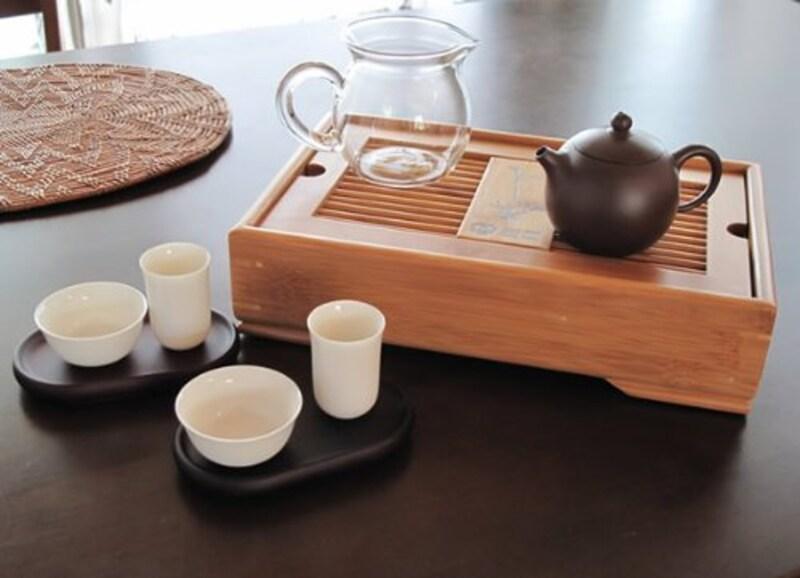 コード,中国茶器 竹茶盤セット,50-425ba