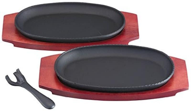 池永鉄工,マルチステーキ皿 2枚組,4906018513029