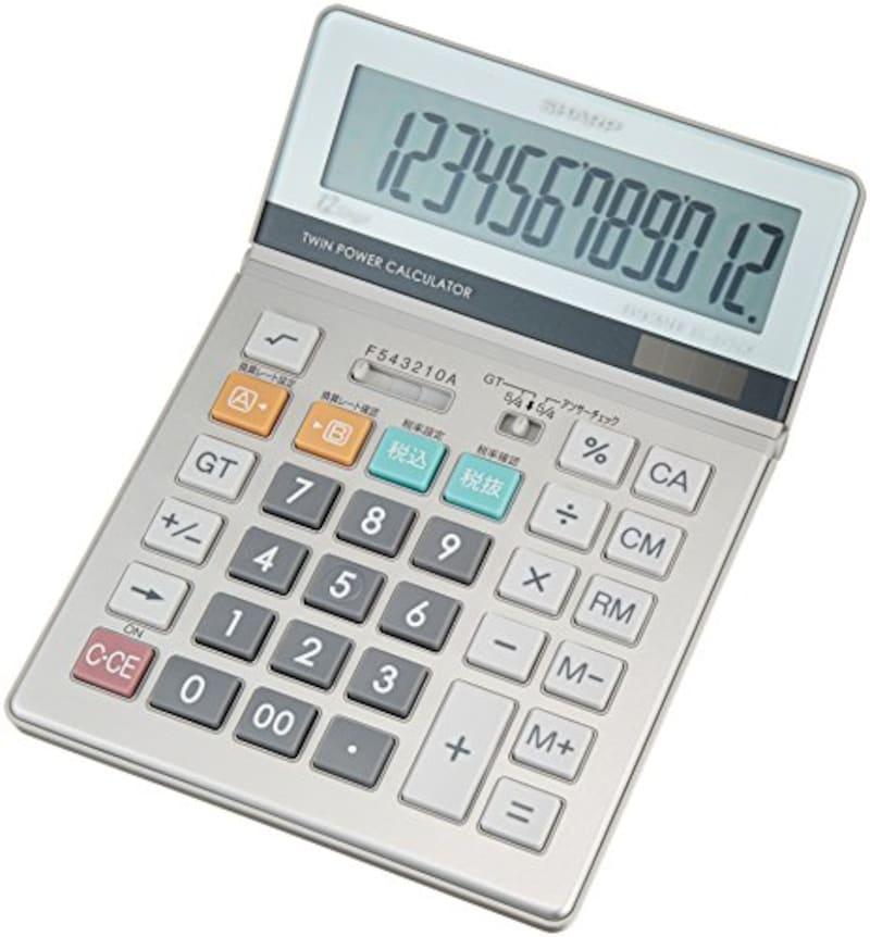 SHARP(シャープ),実務電卓 グリーン購入法適合モデル セミデスクトップタイプ,EL-S752KX