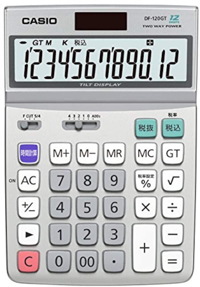 CASIO(カシオ),スタンダード電卓 時間・税計算 デスクタイプ 12桁,DF-120GT-N