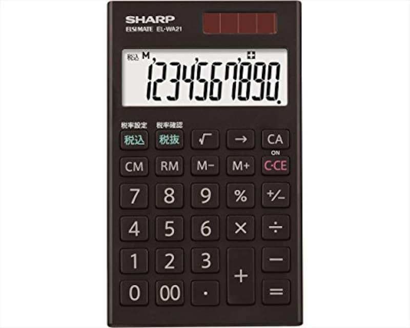 SHARP(シャープ),手帳タイプ電卓,EL-WA21-X