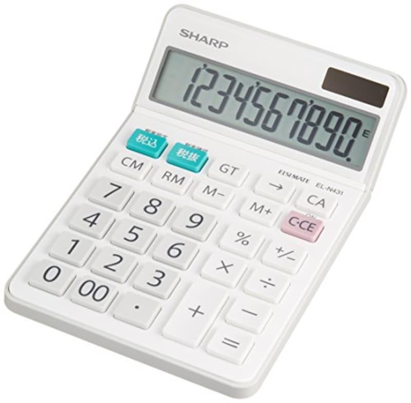 SHARP(シャープ),電卓 シャープ ナイスサイズタイプ 10桁,EL-N431-X