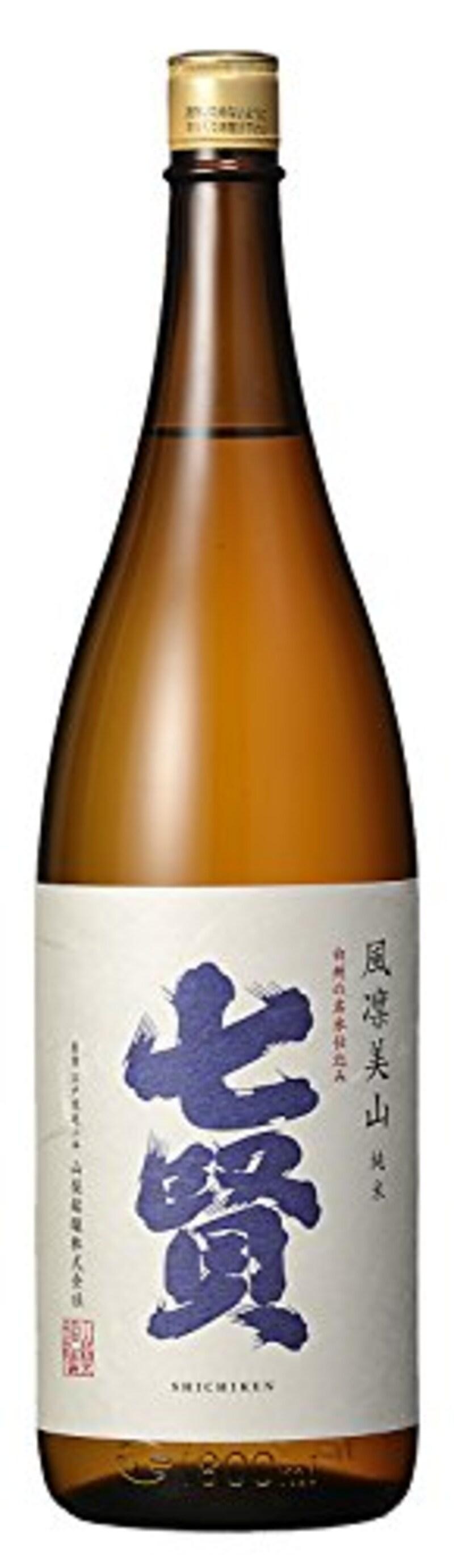 山梨銘醸,七賢純米酒風凜美山