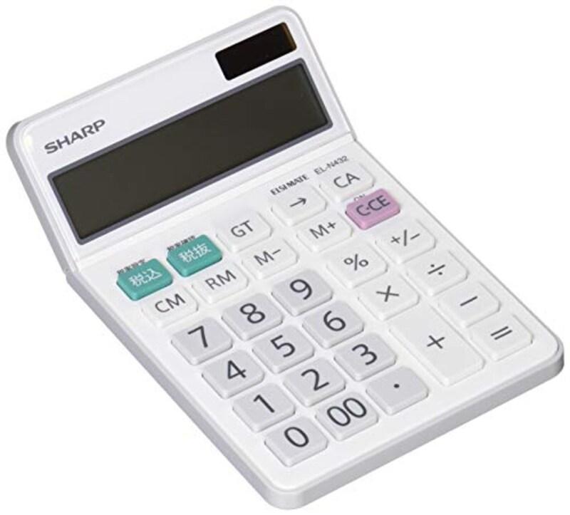 シャープ,卓上電卓,EL-N432-X