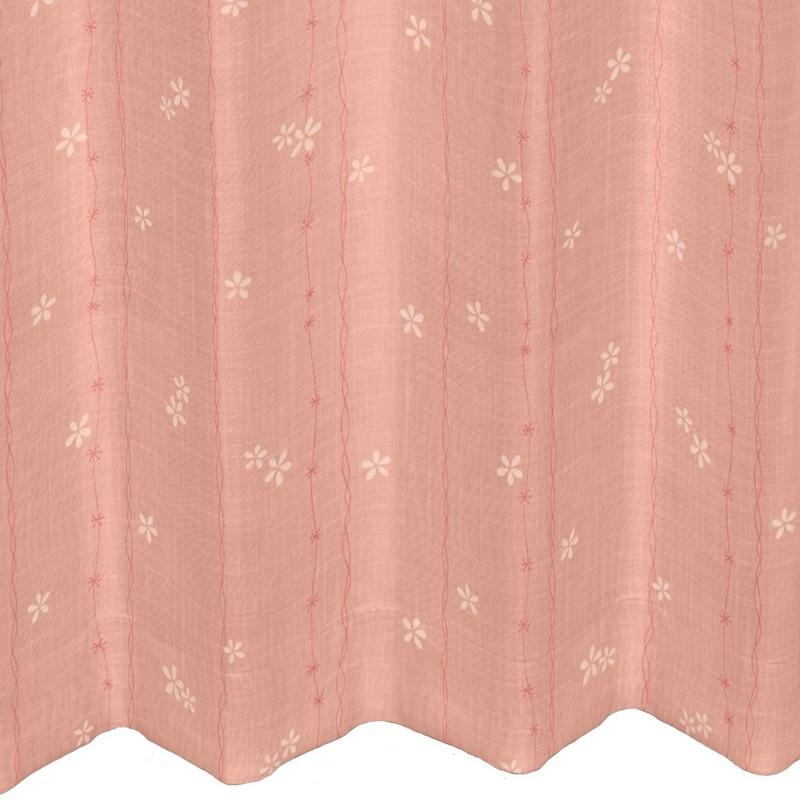 くれない,遮光カーテン 「花の小径」,  komichi-b