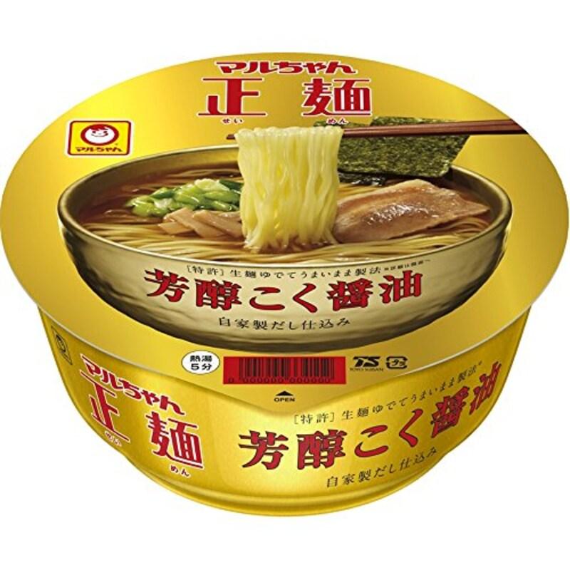 東洋水産,マルちゃん 正麺カップ 芳醇こく醤油 12個