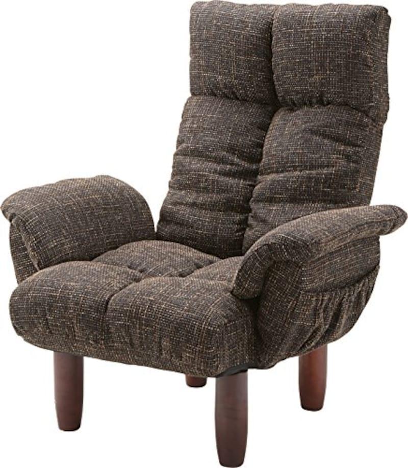 AZUMAYA,一人占め贅沢座椅子,RKC-39BR