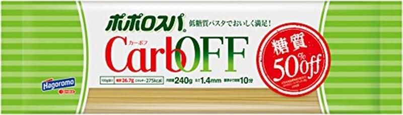 はごろも,ポポロスパ CarbOFF(低糖質パスタ) 1.4mm 240g (5608)×3個,1.4mm