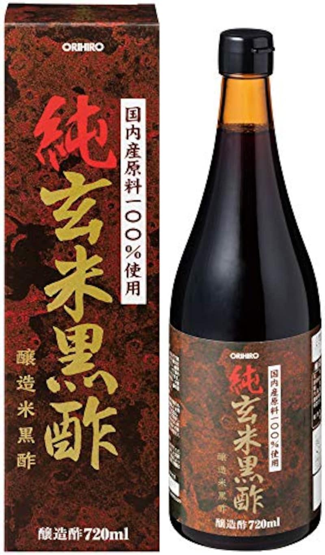 オリヒロ,純玄米黒酢