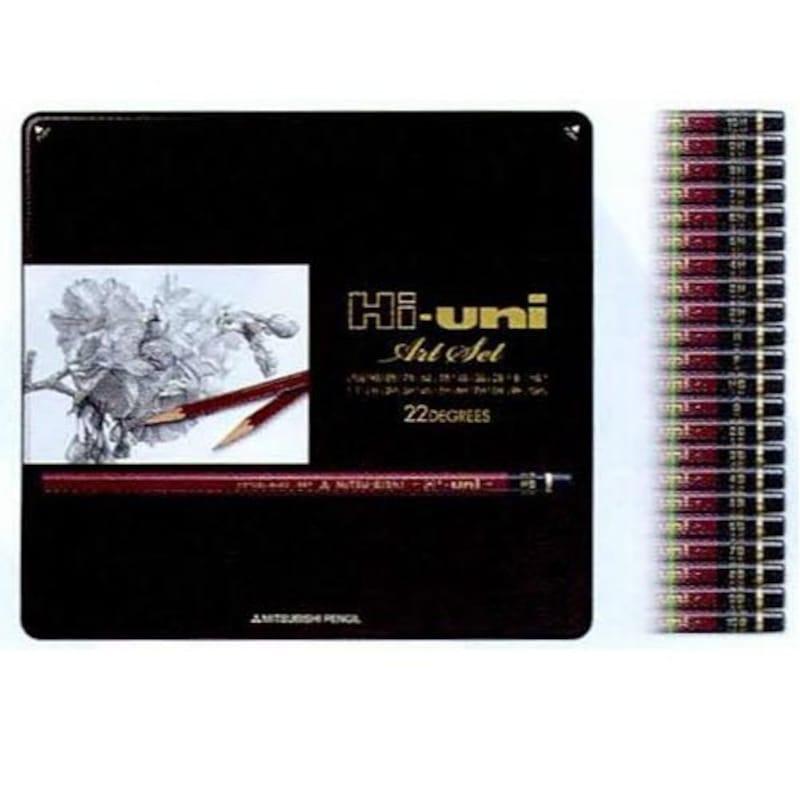 三菱,ハイユニ アートセット 22硬度22本セット
