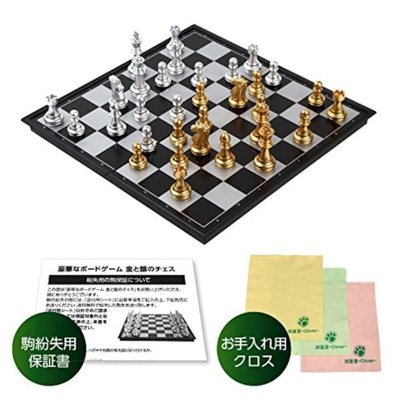四葉堂,豪華なボードゲーム 金と銀のチェス