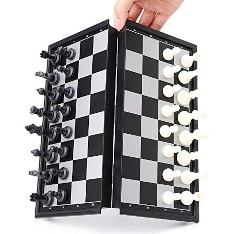 スーパープラス,磁石つき マグネット式 本格サイズ チェスセット