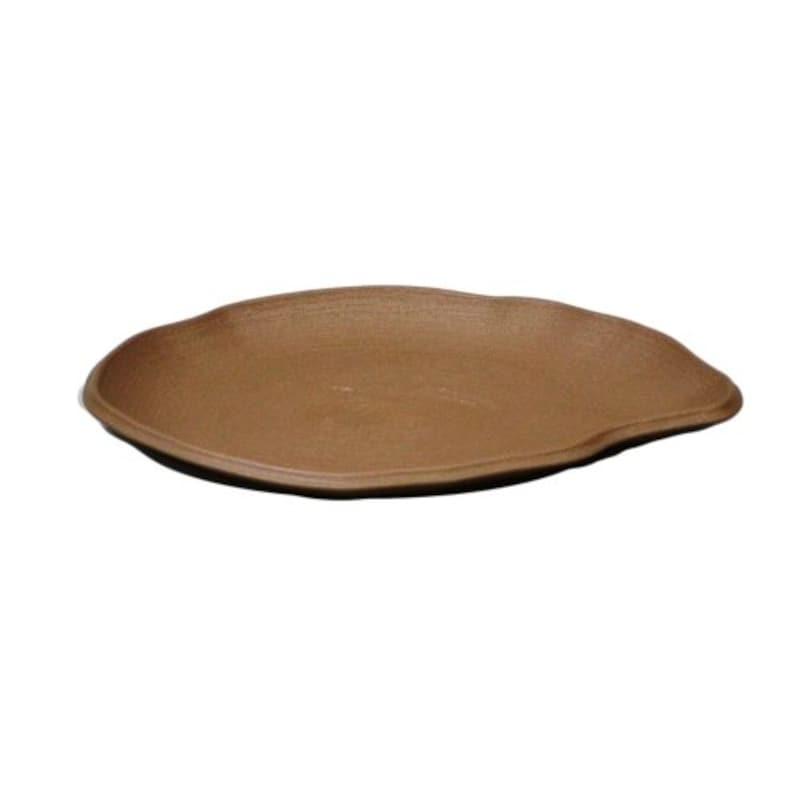 アップルウェアー,陶鉢皿 楕円 きん茶,250型