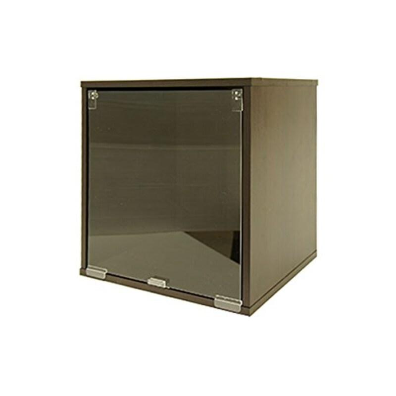 キューブボックスα,棚なし透明扉タイプ