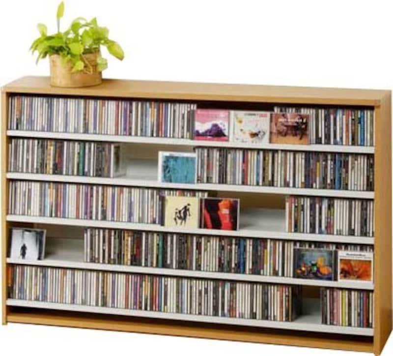 CD屋さんのCD/DVDラック,ecs695l-au