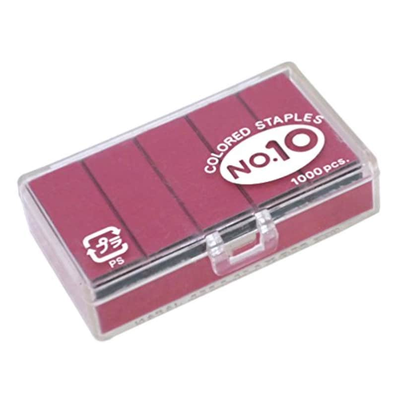 マックス,カラーホッチキス針 10号ピンク,No.10-1M/P