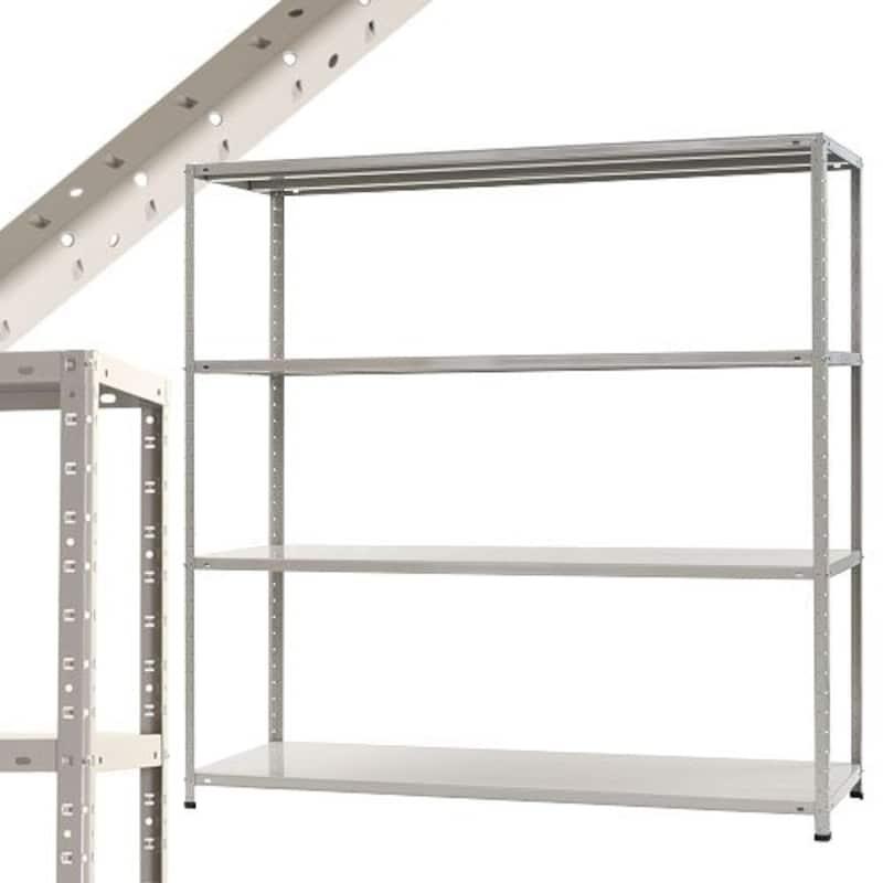 スチールラックのキタジマ,スチール収納ラック 4段,51040608476