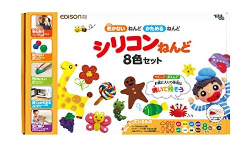エジソンママ(EDISON mama),シリコンねんど 8色+1,KJT1003