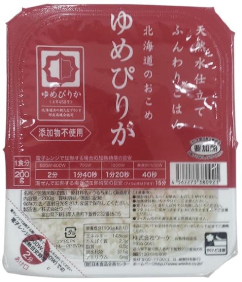 ウーケ,天然水仕立てふんわりごはん 北海道のおこめ ゆめぴりか ,-