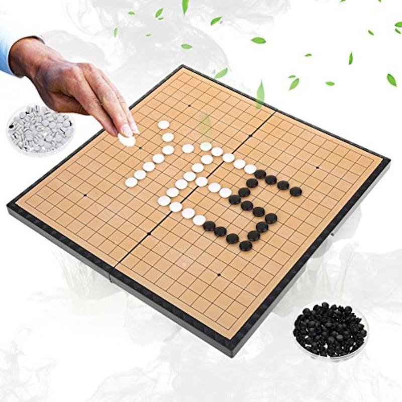 Dilwe,囲碁盤セット 折りたたみ マグネット石,ー