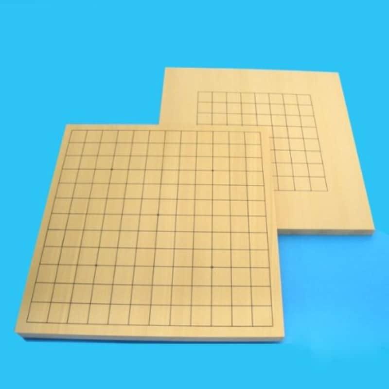 囲碁ラボ,新桂9・13路木製囲碁盤(アガチス)両用囲碁盤,1105il