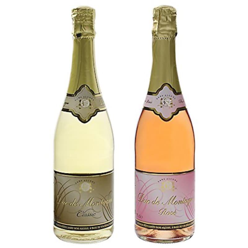 デュク・ドゥ・モンターニュ,ノンアルコールスパークリングワイン 750ml 2種(白・ロゼ)セット