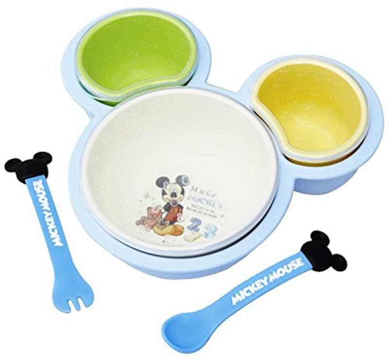 錦化成,ベビー食器 離乳食パレット ミッキーマウス,-