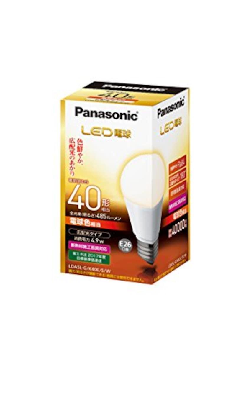 パナソニック,LED電球 広配光タイプ,LDA5LGK40ESW
