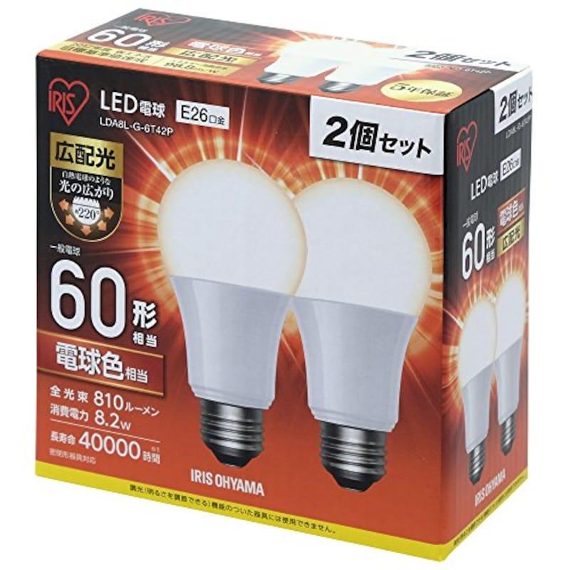アイリスオーヤマ,LED電球,LDA8L-G-6T42P