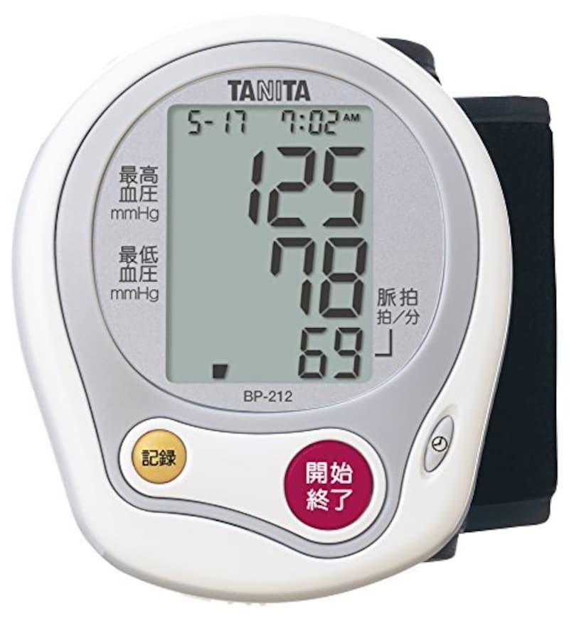 タニタ,手首式血圧計,BP-212-WH