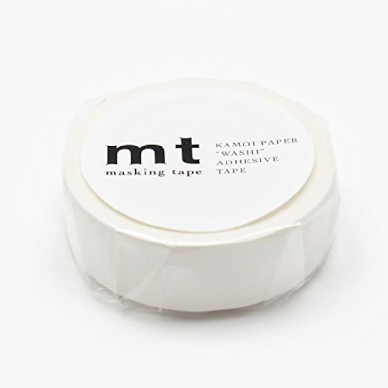 カモ井加工紙,カモ井加工紙 マスキングテープ マットホワイト,MT01P208