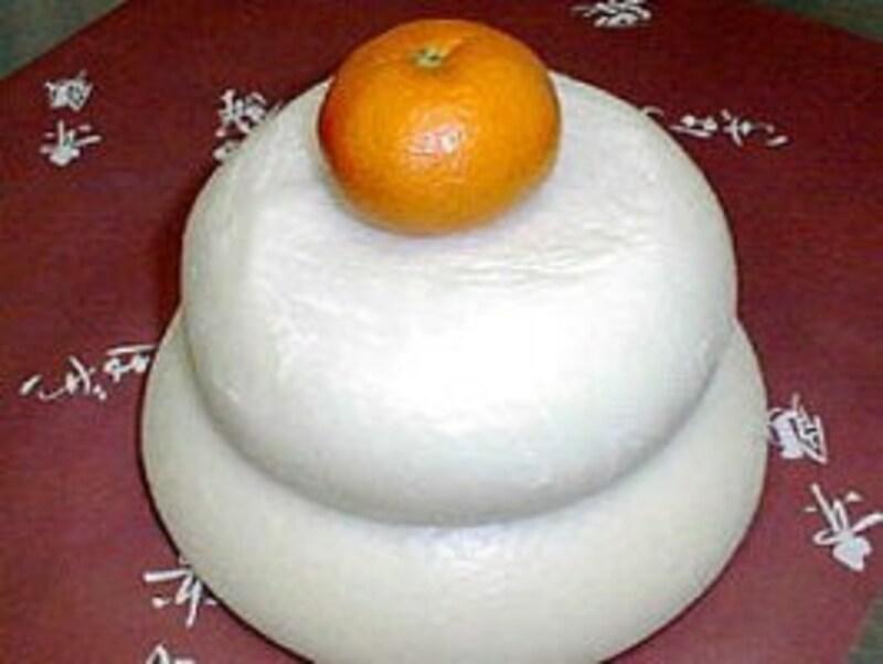 純白の鏡餅,鏡餅・1升1重(パックなし)【鏡餅】