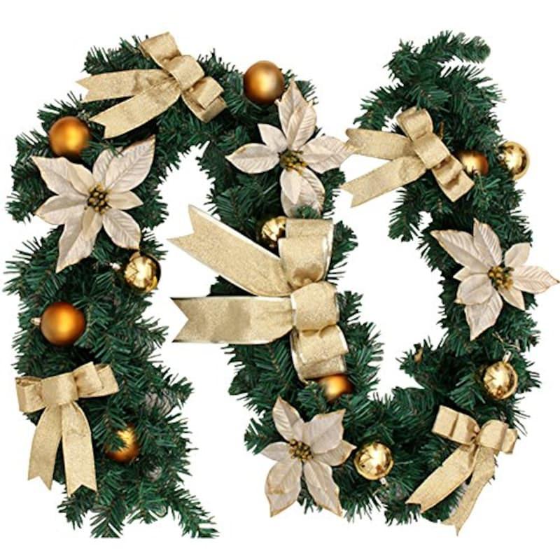 -,ガーランド クリスマスリース ,-