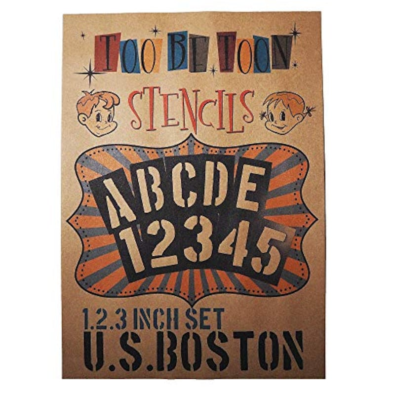 ステンシルシート U.S.BOSTON