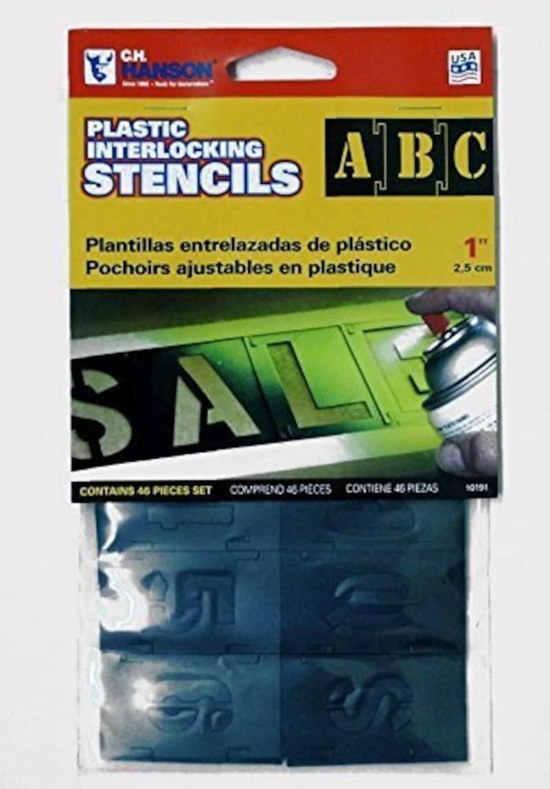 C.H.HANSON,プラスチック製 ステンシル1インチ,SL-018-FEE