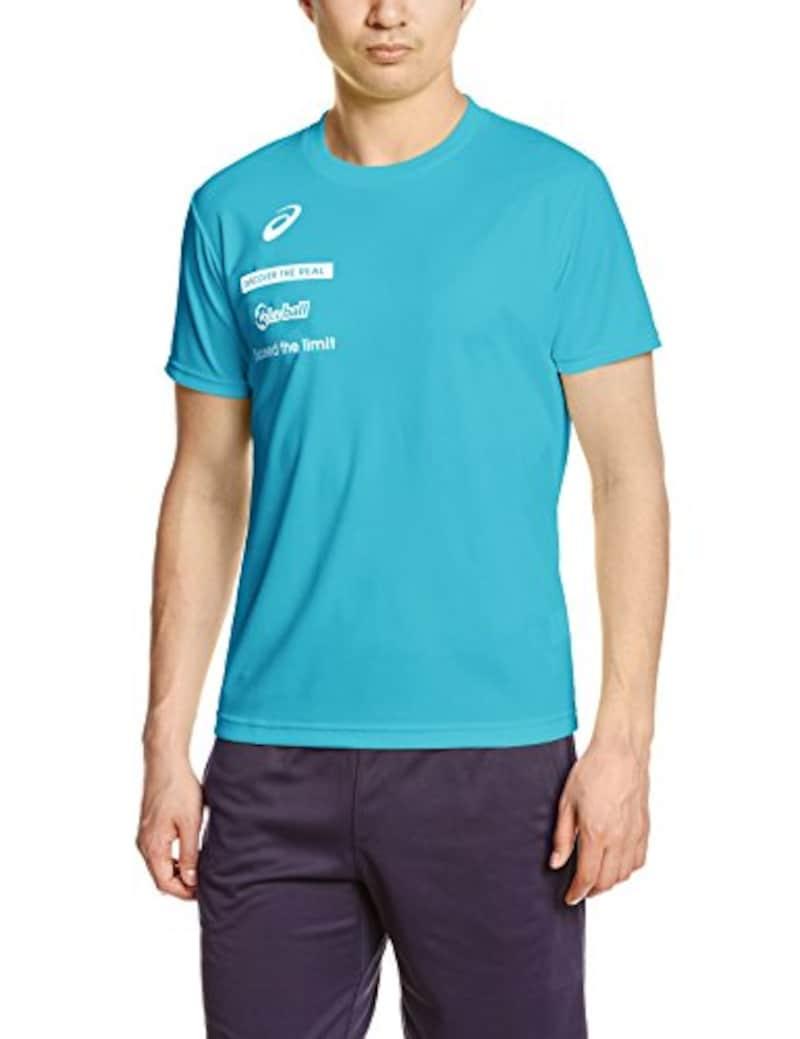 アシックス,バレーボール半袖Tシャツ プリントTシャツHS,XW6726