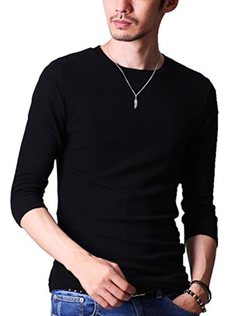 FTELA,メンズ シャツ カットソー Tシャツ ロンTクルーネック,なし