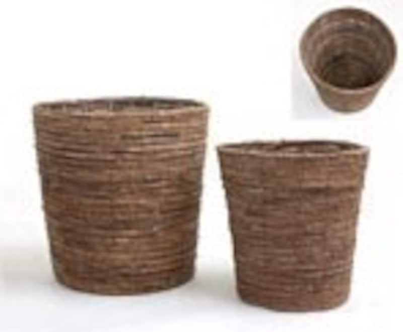 籐製 観葉植物 鉢カバー