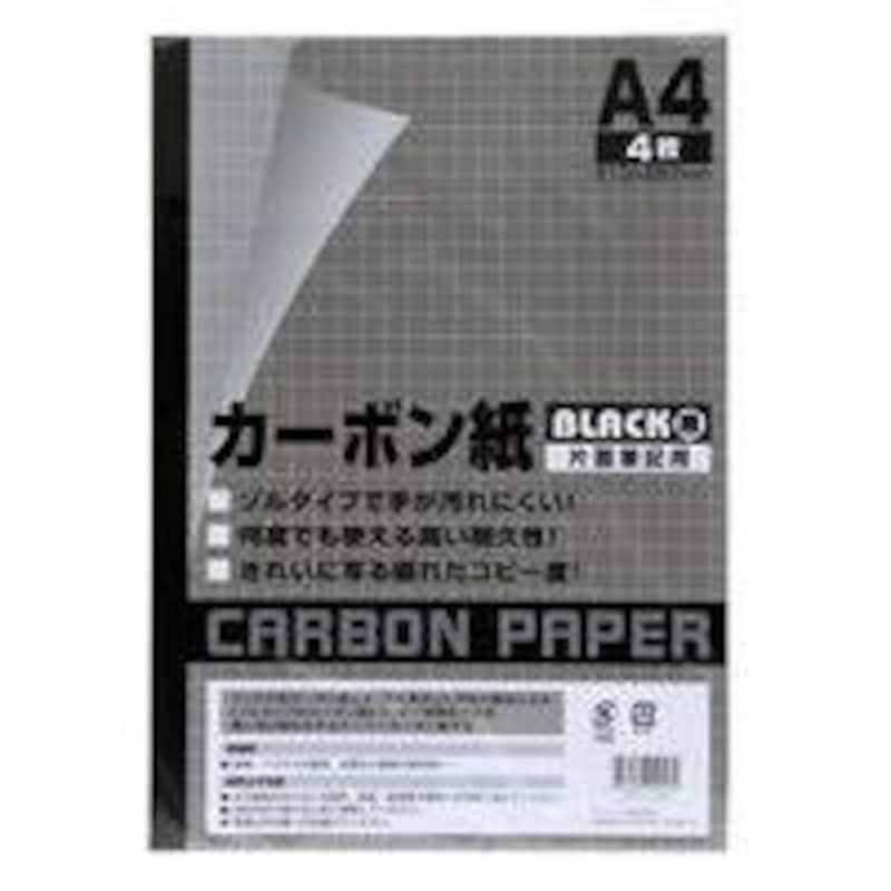 サンノート,カーボン紙片面筆記用 62 4枚 黒
