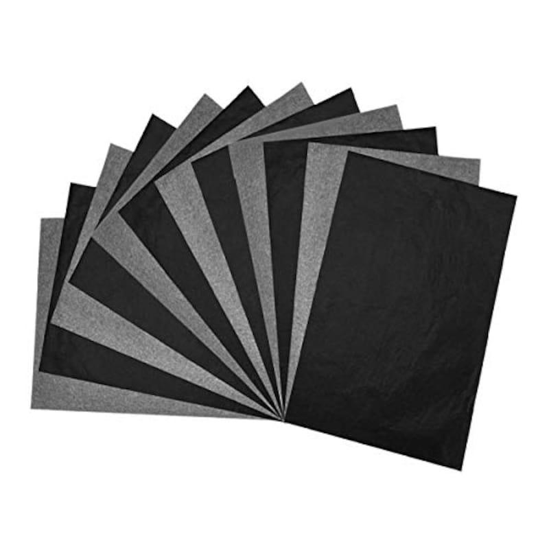 GOOMAND,50枚入り カーボン紙 黒 片面 トレーシングペーパー