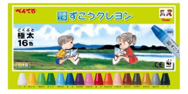 ぺんてる,ずこうクレヨン,PTCG1-16